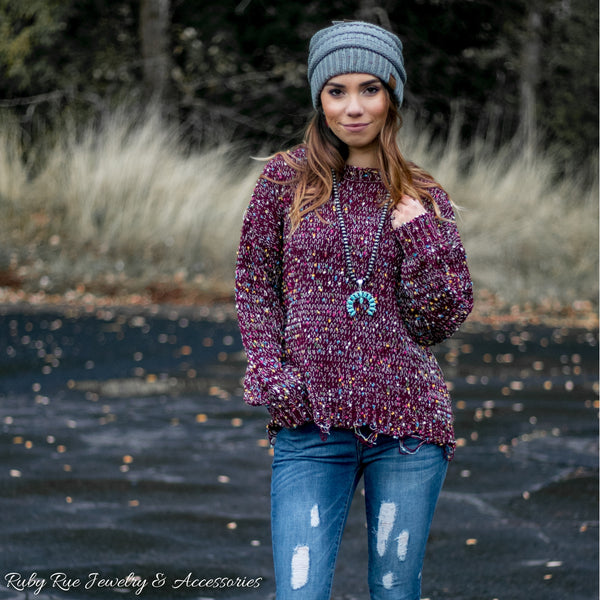 The Eve Speckled Sweater - Ruby Rue Jewelry & Accessories