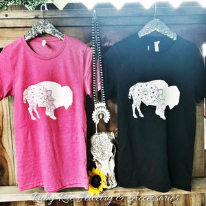 Buffalo Tee - Ruby Rue Jewelry & Accessories