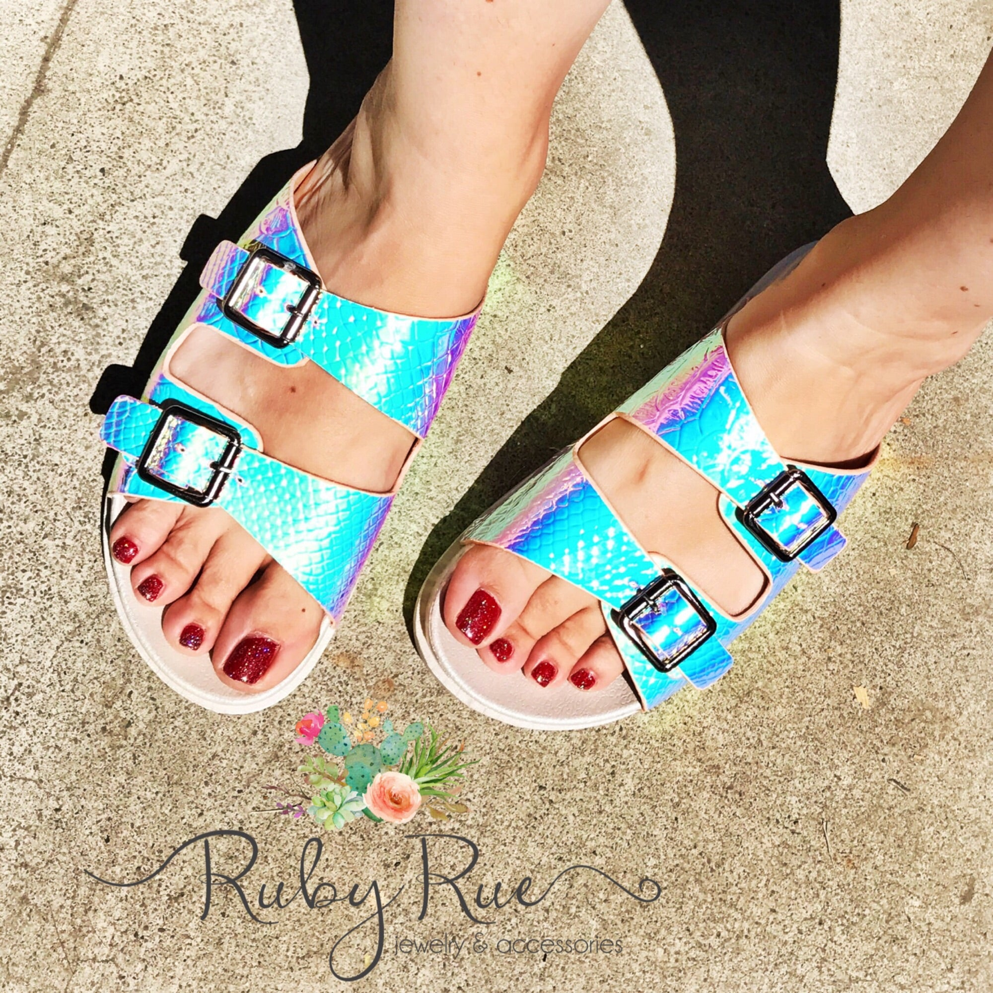 Unicorn Sandals - Ruby Rue Jewelry & Accessories