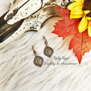 Gold Concho Earrings - Ruby Rue Jewelry & Accessories