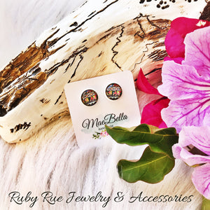 Floral Southwestern Glass Earrings - Ruby Rue Jewelry & Accessories
