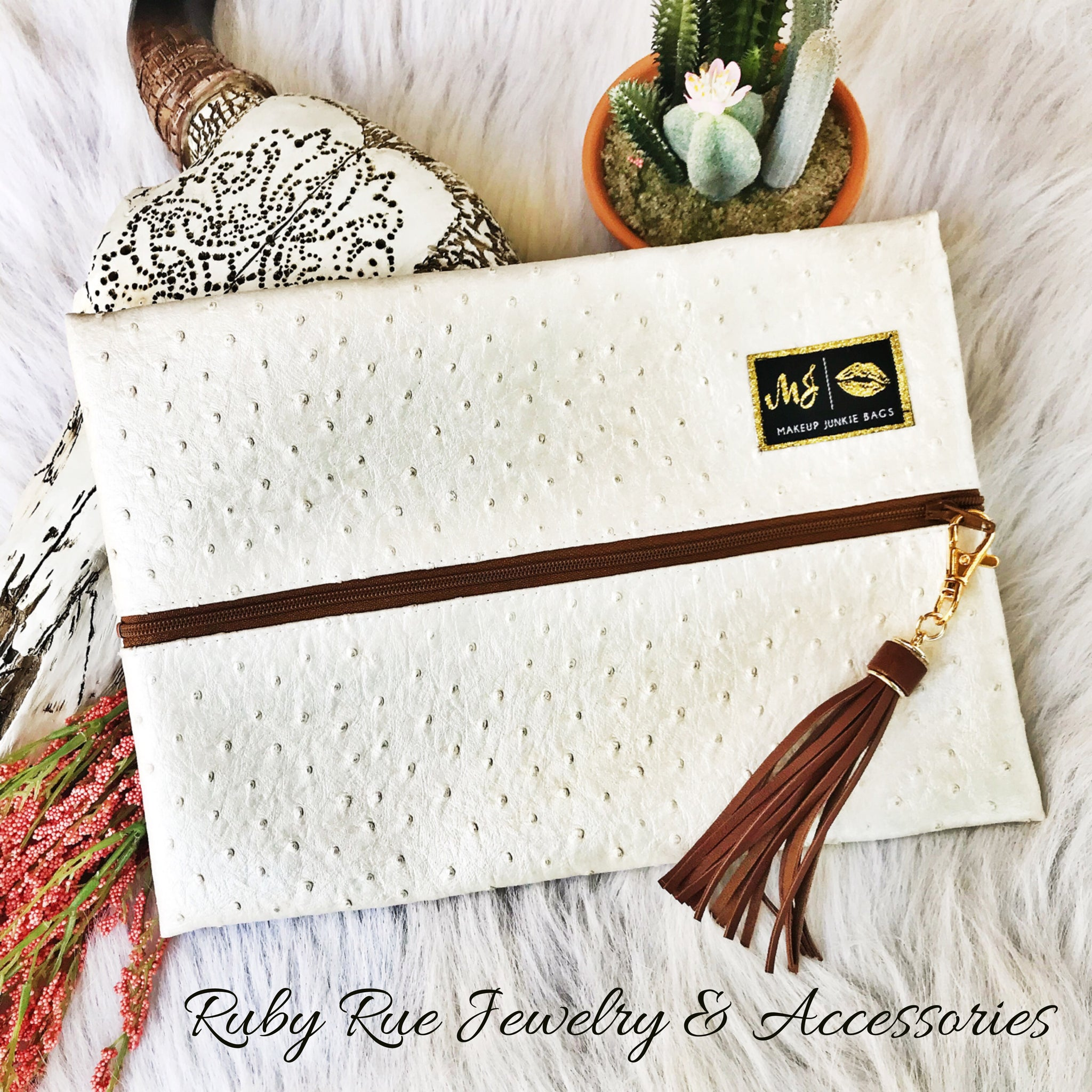 Pearl Girl Makeup Junkie Bag - Ruby Rue Jewelry & Accessories