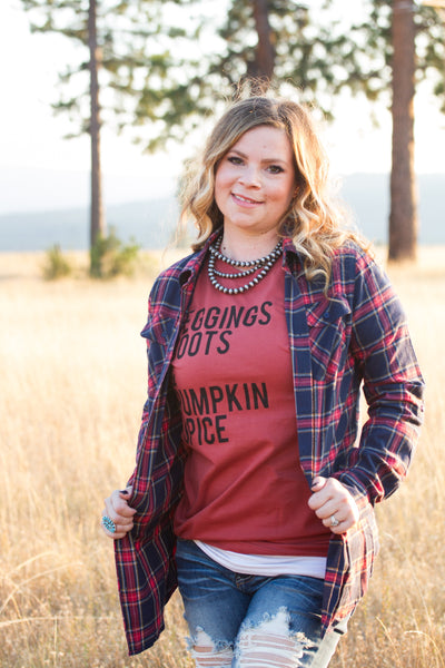Leggings, Boots & Pumpkin Spice Tee - Ruby Rue Jewelry & Accessories