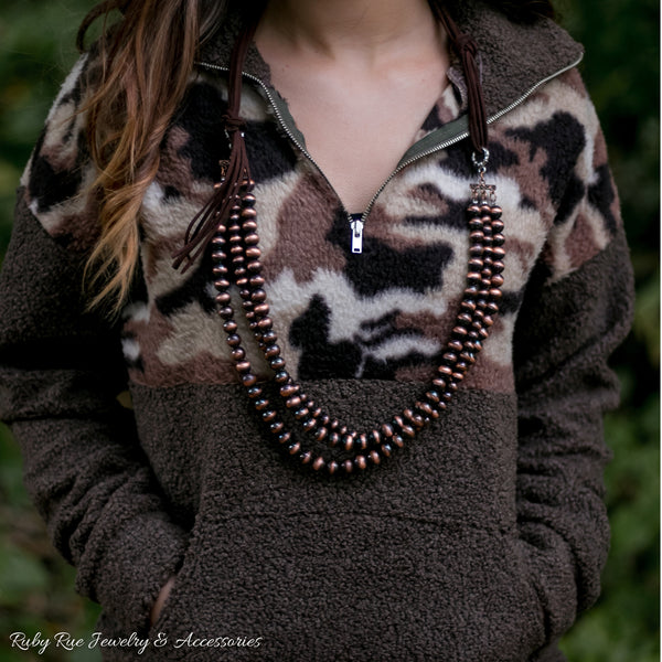 Copper Navajo Pearl Necklace - Ruby Rue Jewelry & Accessories