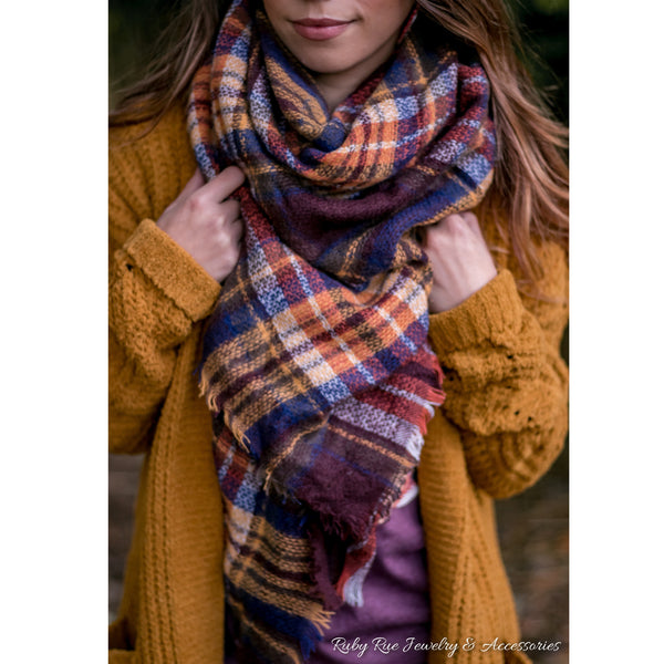 The Pecan Blanket Scarf - Ruby Rue Jewelry & Accessories