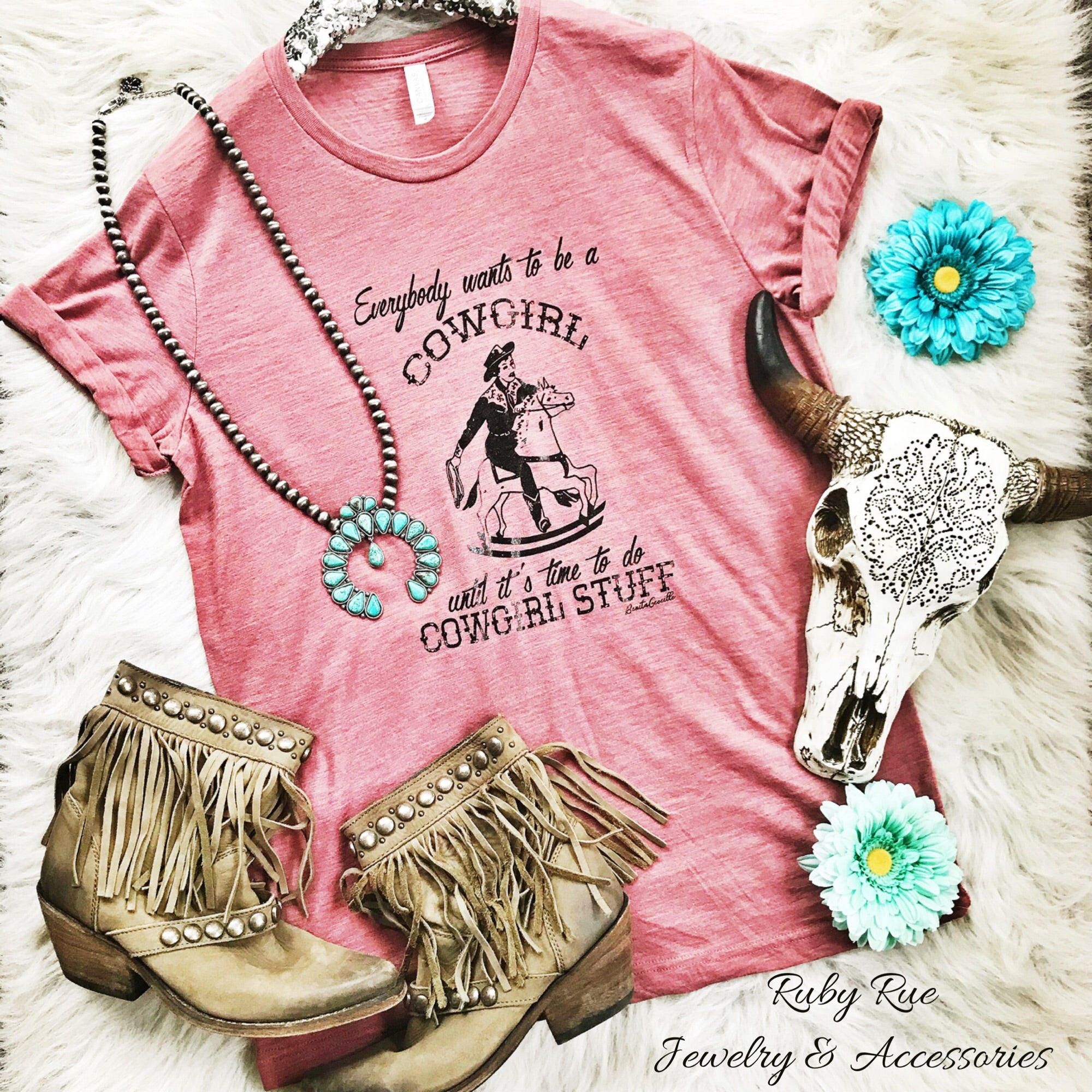 Cowgirl Stuff Tee - Ruby Rue Jewelry & Accessories