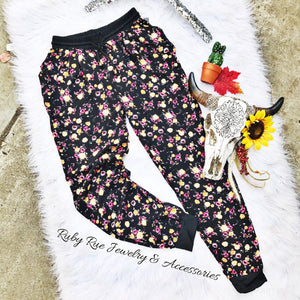 Yellow Floral Loungers - Ruby Rue Jewelry & Accessories