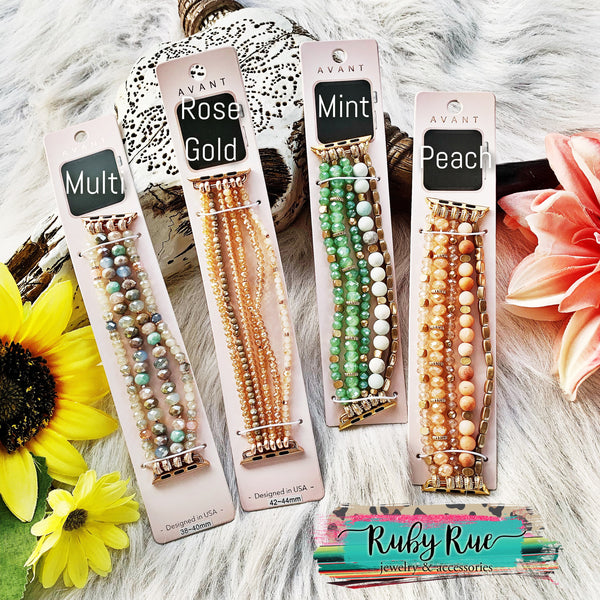 Beaded Apple Watch Bands - Ruby Rue Jewelry & Accessories
