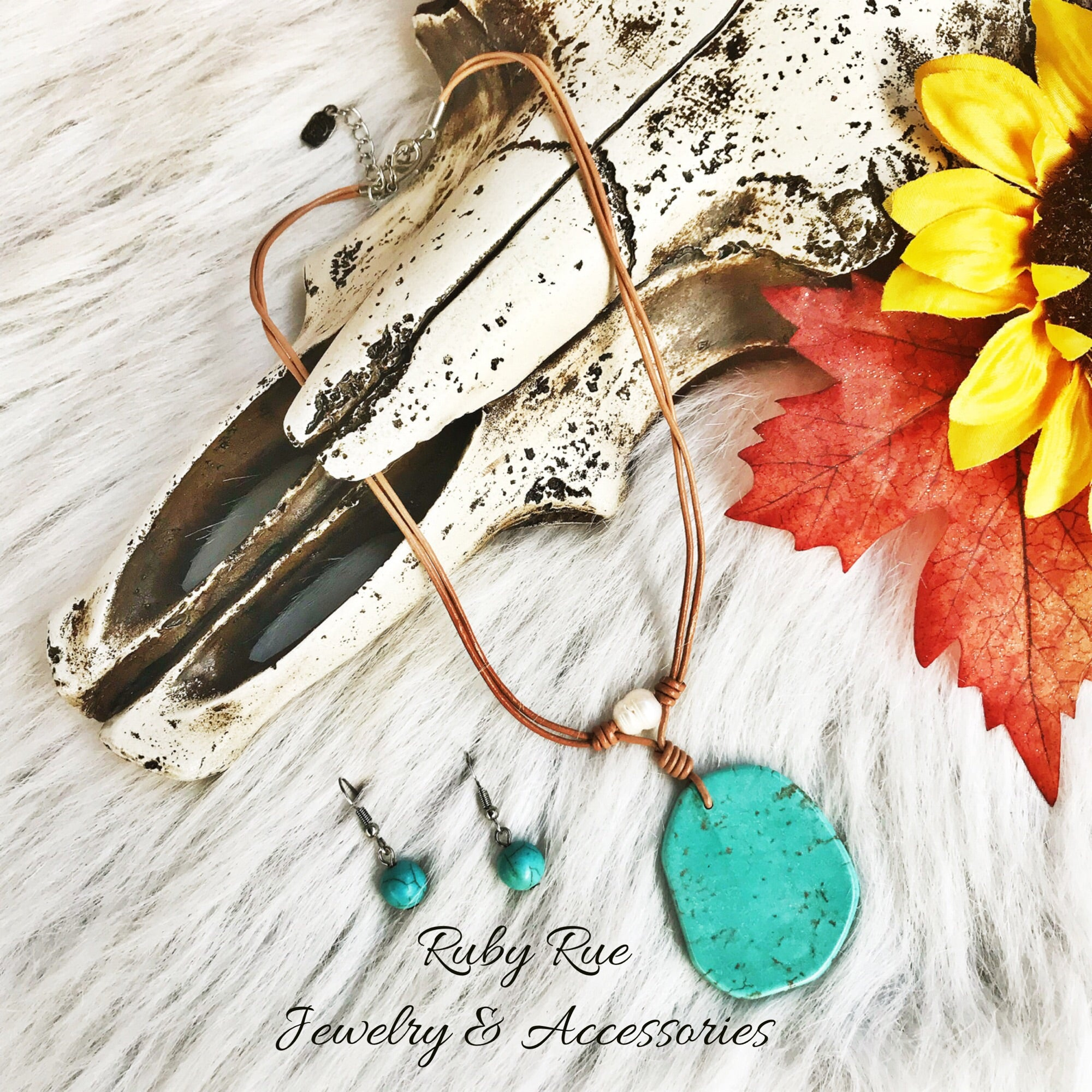 Turquoise Choker - Ruby Rue Jewelry & Accessories