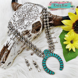 The Nikki Turquoise Squash Set - Ruby Rue Jewelry & Accessories