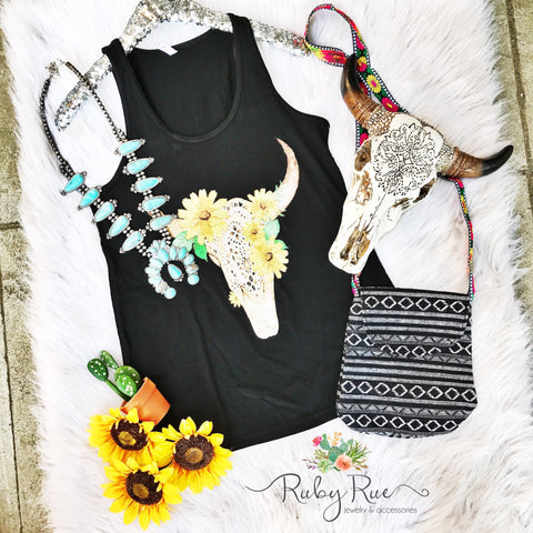 Bullhead Sunflower Tank - Ruby Rue Jewelry & Accessories