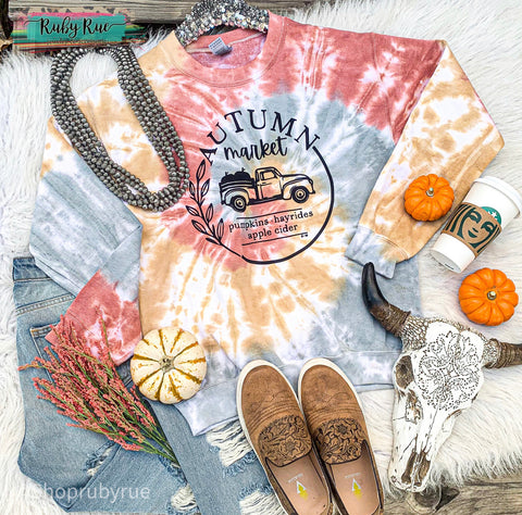 Autumn Harvest Tye Dye Sweatshirt