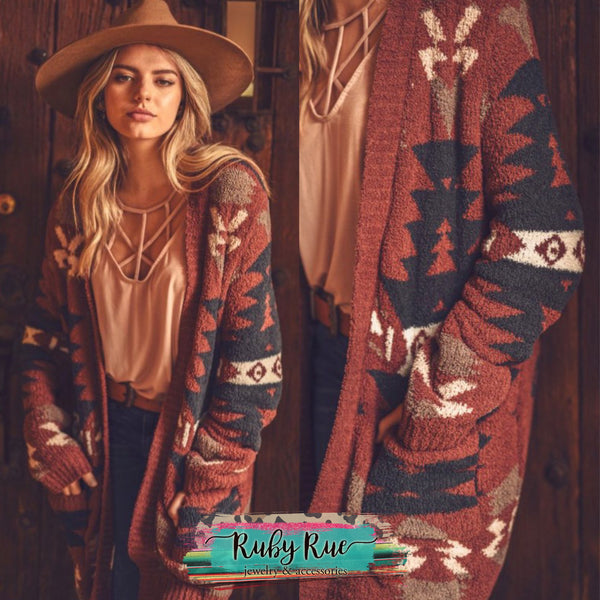Aztec Cardigan Sweater - Ruby Rue Jewelry & Accessories
