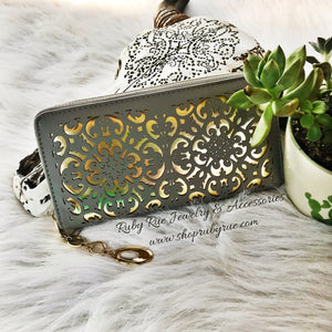 Gold Inlay Wallet - Ruby Rue Jewelry & Accessories