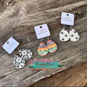 Handmade Cork Earrings - Ruby Rue Jewelry & Accessories