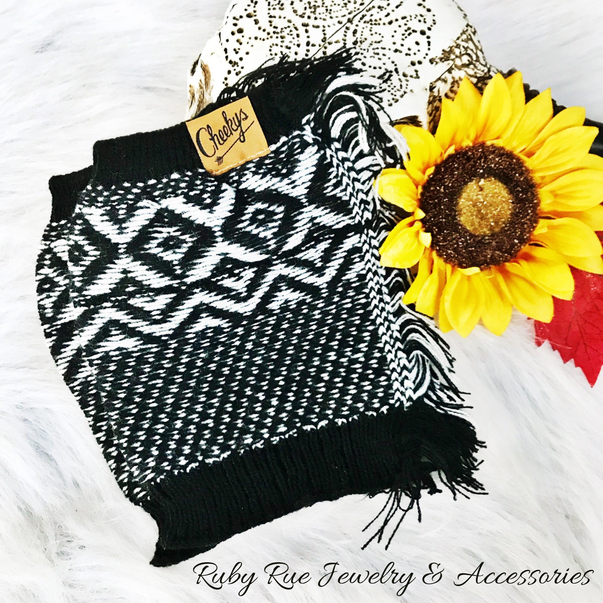 Cheeky's Black Boot Socks - Ruby Rue Jewelry & Accessories