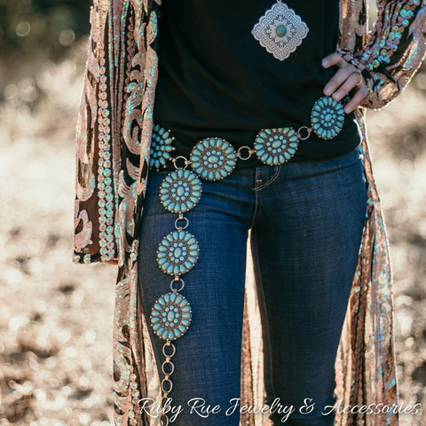 The Telluride Concho Belt - Ruby Rue Jewelry & Accessories
