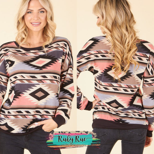 Thunder Rolls Southwest Sweater - Ruby Rue Jewelry & Accessories