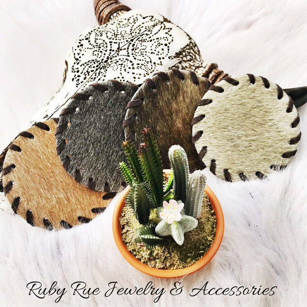 Hair On Hide Coaster Set - Ruby Rue Jewelry & Accessories