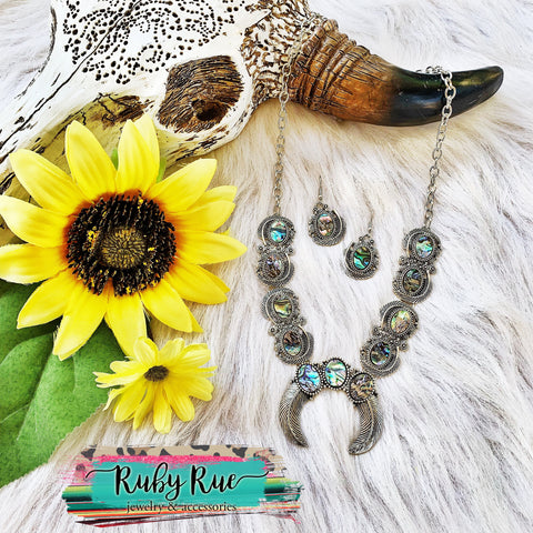 Abalone Silver Squash - Ruby Rue Jewelry & Accessories