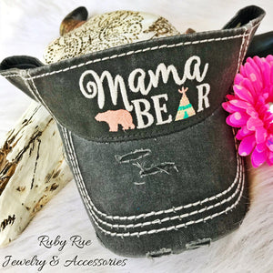 Mama Bear Visor - Ruby Rue Jewelry & Accessories