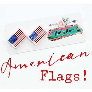 American Flag Earrings - Ruby Rue Jewelry & Accessories