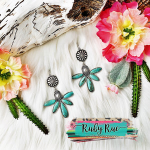 Alabama Turquoise Earrings - Ruby Rue Jewelry & Accessories