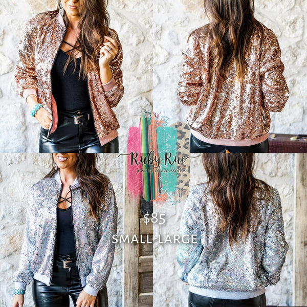 City Slicker Sequin Bomber - Ruby Rue Jewelry & Accessories