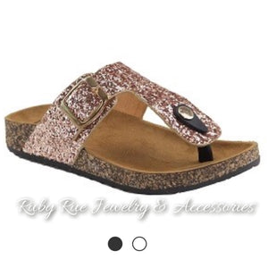 Rose Gold Sandals - Ruby Rue Jewelry & Accessories