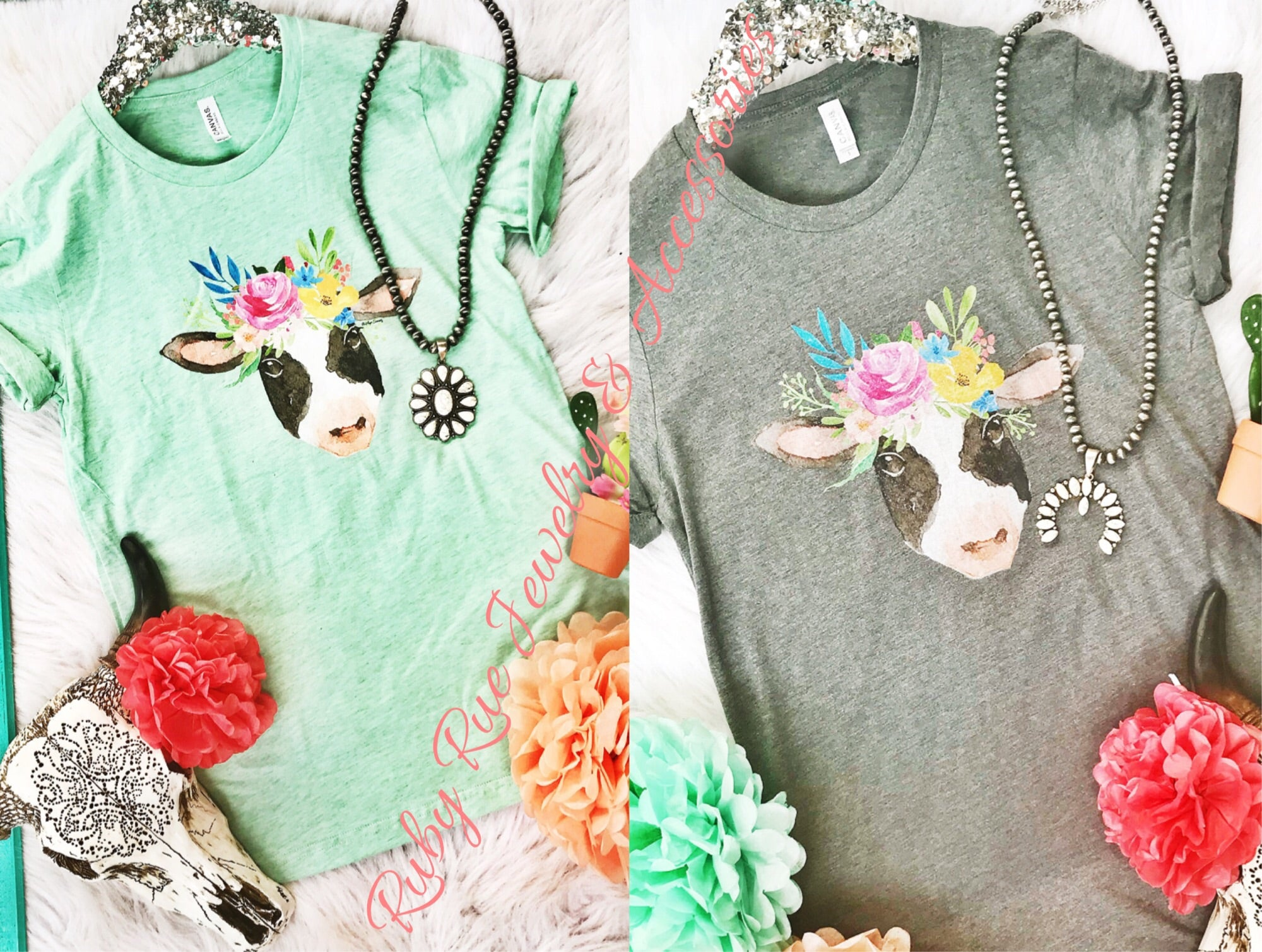 Miss Betsy Cow Tee - Ruby Rue Jewelry & Accessories