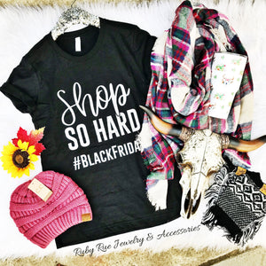 Shop So Hard Tee - Ruby Rue Jewelry & Accessories