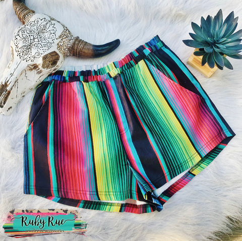 Crazy Train Serape Shorts