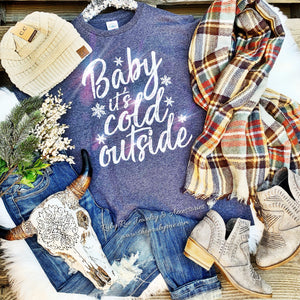 Baby It's Cold Outside Tee - Ruby Rue Jewelry & Accessories
