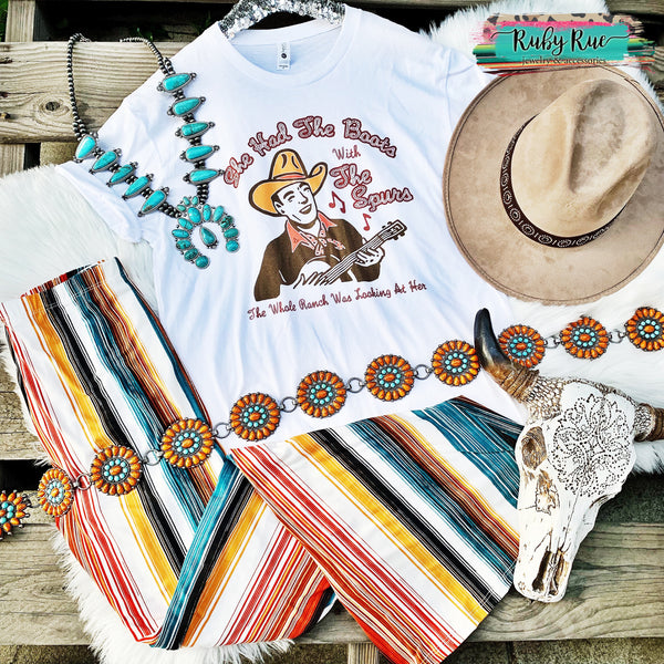 Boots with the Spurs Graphic Tee - Ruby Rue Jewelry & Accessories