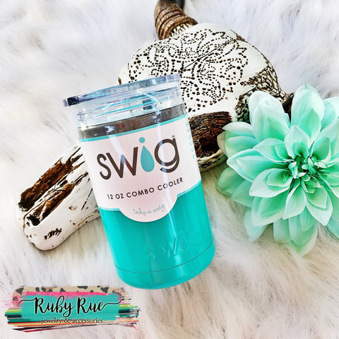 Turquoise SWIG brand tumbler 2 in 1 - Ruby Rue Jewelry & Accessories