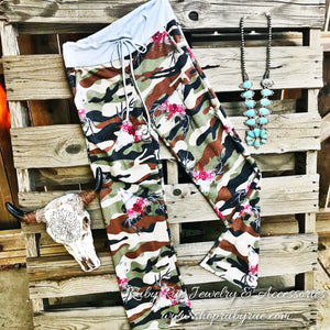Camo/Deer Antler lounge Pants - Ruby Rue Jewelry & Accessories