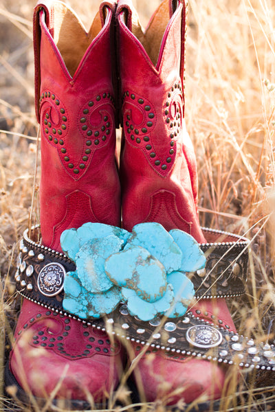 Texas Turquoise Slab Buckle - Ruby Rue Jewelry & Accessories