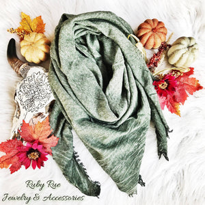 Olive Blanket Scarf - Ruby Rue Jewelry & Accessories