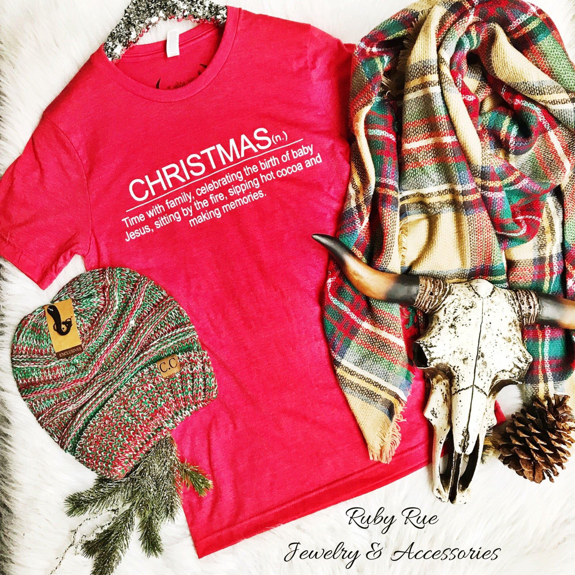Christmas Definition Tee - Ruby Rue Jewelry & Accessories