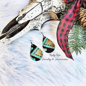 Western Leather Earrings - Ruby Rue Jewelry & Accessories