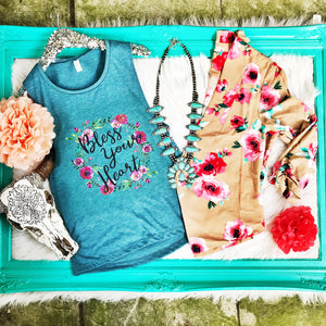 Bless Your Heart Tank - Ruby Rue Jewelry & Accessories