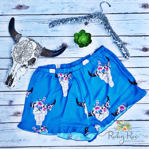 Blue Bullhead Dressy Shorts - Ruby Rue Jewelry & Accessories