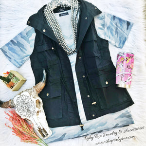 Hooded Utility Vest - Ruby Rue Jewelry & Accessories