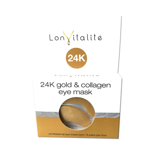6 pack Lonvitalite 24k Gold & Collagen Eye Mask
