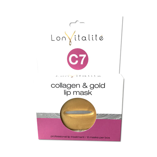 6 pack Lonvitalite 24k Gold & Collagen Lip Mask