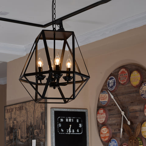 Antique black metal hanging lantern candle chandelier light with 4 antique black metal hanging lantern candle chandelier light with 4 lights unitarylighting aloadofball Image collections