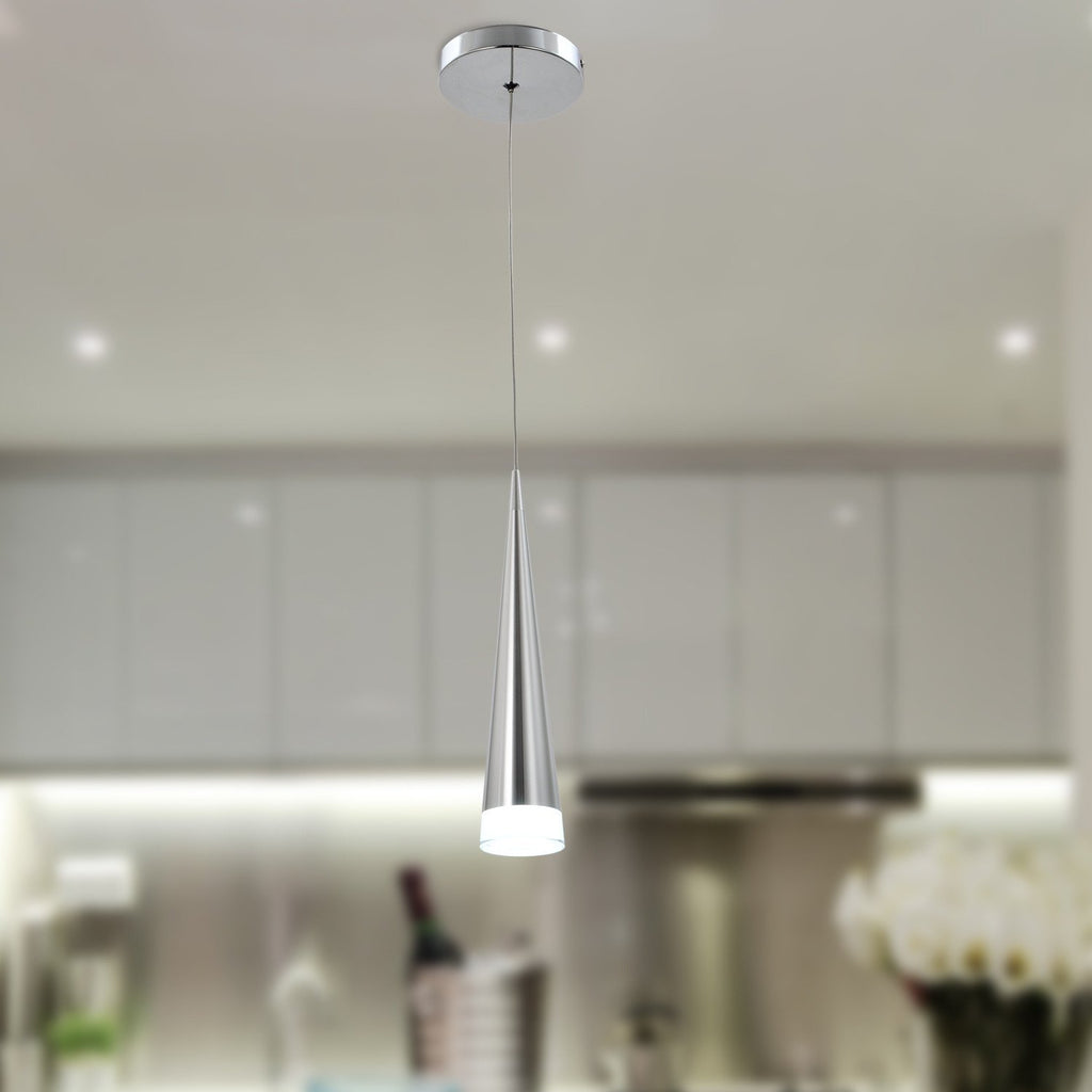 UNITARY BRAND Modern Stainless Steel 5W LED Acrylic Pendant Light - unitarylighting