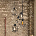 UNITARY BRAND Rustic Barn Metal Chandelier Max 200W With 5 Light Black Finish - unitarylighting