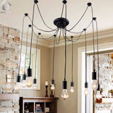 Antique Black Large Barn Chandelier lighting with 10 Lights Bulbs Included - unitarylighting