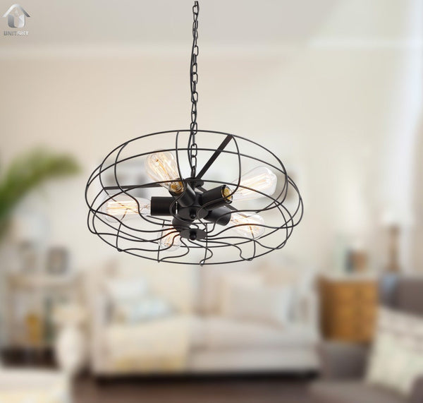 Industrial Ceiling Light 3ds Max: Vintage Barn Metal Hanging Ceiling Chandelier Max. 200W